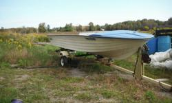 if you can read this i got it 14 ft fiberglass boat good for fishing or hunting solid floor transom plywood was removed just need new plywood reinstalled $60.00 cash in hand good little boat open-bow located in peterborough 7059277625 can deliver if