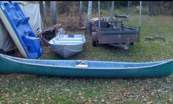 Made in Canada 14 ft fiberglass canoe. Good shape doesnt leak. This ad was posted with the Kijiji Classifieds app.