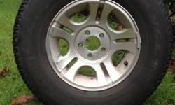 """Set of 15 """" Stock aluminum rims and all season tires originally off of a 2011 Ranger. In good shape lots of tread, just need a clean up."""