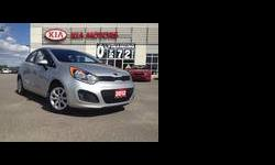 Come see the Kia Rio5's Unbeatable Value! Popular Compact Hatchback with BEST IN CLASS Fuel Economy. Well Equipped LX + model with: - A/c - Power Windows - Power Door Locks - Power Mirrors - Heated Mirrors - Bluetooth - Keyless Entry - Heated Seats - IPOD