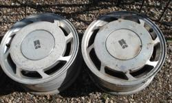 """Aluminum rims 15"""" five bolit can be use on Olidsmobile,GM,Chev.thy are not the same.all 4 for 40$.please call 974-1793"""