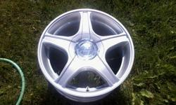 Set of 4 Core Racing Rims, dual bolt pattern, great shape, 2 have 215/70 BF Goodrich Slalom M/S tires... like new $150.00 OBO