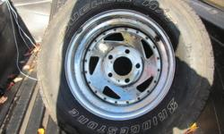 """4- 15"""" rims off a GMC truck good for winter tires  826- 7311 Dave"""