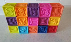 15 soft squishy blocks for babies and toddlers. In excellent condition. Pick up in Kanata North.