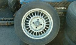 """Turbine rims from 1979 Mustang, I believe bolt pattern is 4x108, or 4.25"""". Tires are pretty much shot. $80 obo Thanks for looking"""