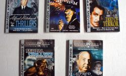 15 Vintage Movie Classics Mayhem, Terror, Thrillers, Mysteries, Chillers (DVD) Real NOT bootleg 1. Masters of Mayhem: Horror Hotel, The Bat, The Gorilla 2. Trio of Terror: Nosferatu, Night of Living Dead, House on the Haunted Hill. 3. Three Classics