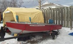 I have a 16-foot Starcraft with trailer,new tires,lights,bearings,and more.  The boat just come out of my bud's garage with a new paint job. The trailer has tilt and also over 50-feet of steal line on winch. I just put in three captins seats that turn
