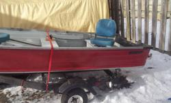 I have a 16-foot Starcraft with trailer,new tires,lights and so on.  The trailer has tilt and also over 50-feet of steal line on winch.  I just put in three captins seats that turn round and round plus fold down. New transom that will take a 25 to 35