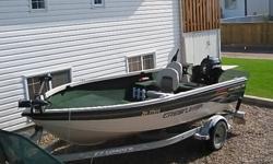 For Sale: 2002 Crestliner FishHawk 1600 Tiller Model with 2005 60hp 4 Stroke Mercury, Approx 150hrs on Engine. 2 - 55lbs Thrust MinnKota trolling Motors ( Bow & Stern Mounts), Wave Wackers, 4 Rod Holders, Hummingbird fish finder (GPS Compatible), EZ