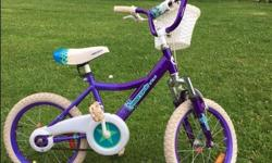 "16"" Girls Supercycle Bike with training wheels"