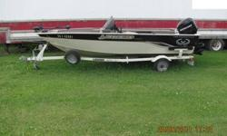 2005 - 16'8 Legend Exterminator with 2006 -60 hp Mercury outboard, EZ Loader trailer, 60 lb thrust bow mount minkota, power trim, live well, bilge pump, am/fm stereo with CD player and cover. Excellent condition.