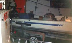 I am selling a late 80s 16 ft blue fin with a 40 hp mercury the motor just had a tune up lights were just all redone has a heavy duty trailer lights all work on trailer no leaks on the boat boat comes with brand new interstate battery and trolling motor