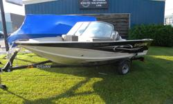 BRAND NEW 16' Sylvan Fish & Ski aluminum boat with matching trailer COMES WITH -Custom matching trailer -Fish Finder -Trolling Motor -Custom Snap Cover -Rod Storage -Livewell and much more! Fall Clearance Price $8999 OR $168 per month with zero down!