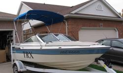 1989 16ft Doral bowrider T.R.X with 140hp mercruiser and alpha one outdrive. This is a really nice boat she's fast and gets great gas mileage. Excelent for fishing or skiing and tubing. The boat comes with three tops plus a winter top as well. It also