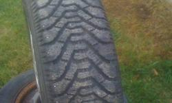 4 Goodyear Nordic tires 3 are 90% and 1 is worn on the outside and there are also another 4 winter tires all 13 in 4 bolt on rims This ad was posted with the Kijiji Classifieds app.
