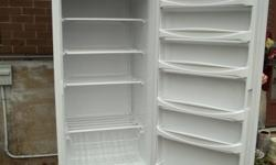 """17 cubic ft. manual defrost freezer The freezer is only 21 months old. Holds 600 lbs of food. Freezer has 4 shelves and 1 basket. Door has 6 shelves. 65"""" high, 30"""" wide, 28"""" deep. $499.00   Call 705 494 8491, NO E-MAILS!"""
