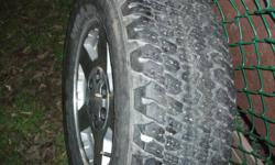 Rims are Alunimum 6 bolt  5 spoke set of 4 Tires are med-fair condition $300 firm email only
