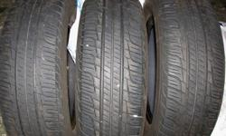 For Sale (3) 185/65R14 Toyo Spectrum All Season Radials $30 each.  These tires are one of the best wearing all seasons tires with a treadwear rating of 580.  Tires only used for one season and are in excellent condition.   Call 861-1442