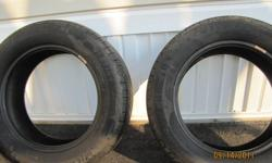 I have 2 Michelin Destiny All Season tires size 185/65r15 with lots of tread left omly used for 1 year
