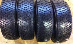I have a set of 4 Goodyear Ultragrip snow tires. They have approximately 75% tread remaining, 8/32nds. Size is 185/70R14, OE fitment for most Honda Civics up to 2005 including the Civic Hybrid. Rubber only, no rims. Asking $140 ($35/tire!!) or best offer.