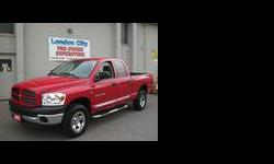Welcome, my name is Allan Gales and I am pleased to let you know about this wonderful Dodge Ram.A very clean 2007 Red Dodge Ram for sale here at London City Chrysler Jeep Dodge London, On.body {background-color:#C3DBDB;}This Dodge Pickup Truck with