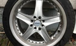 "18"" Konig rims. One good tire three junk tires dual pattern. I know one fits prelude or Nissan 240."