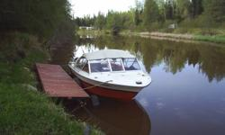 18 ft Starcraft American has a 350 chev inboard with an OMC stern drive. comes with a EZ load trailer with hydraulic brakes and a 12 volt winch. Amazing shape for the year, no rips in the seats but the top could be replaced.