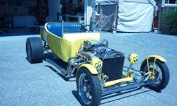 """For sale 1923 T Bucket-350-Chev.Short Block with cam   350 Turbo 3 Speed Auto Trans      -10"""" Ford rear end       -Front disc Brakes   Certified and Street Legal"""