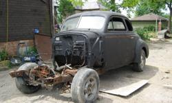 1940 Olds Coupe Project sitting on a Modified Dakota Chassis. $2000 Cash or will consider Up, Down or Even Trades (Not necessarily a Car), I also have Centerline wheels with new Tires and a Rebuilt 350 Chevy with a 700R4 Trans.(519) 281-0370