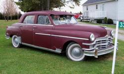1949 Chrysler Windsor 4 door          6 cyl.          3 speed Manual 72, 045 miles (* not KM) Runs good. $1200 or best offer