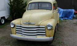 1950 Chev Suburban, Clam Shell Rear Doors, Good Rear Window. No Interior, Engine, or Transmission. Needs lots of TLC. $2,100.00 Located in Barrie 705-435-6672 Home 416-985-2235 Mobile