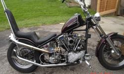 1951 harley panshovel a real old school chopper a must see 10000.00 ob in vernon 778-4755986