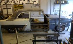 "I am selling my custom 1952 Ford 2dr prostreet drag car project. The car is sitting on a custom chassis. Chassis is all 2x3"" box tube, front clip is a 78' camaro suspension with tubular control arms. The rear end is tubbed with 4 link suspension and a"