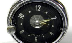 This is a GM optional in-dash Chevrolet car Clock for 1953 and 1954 Bel Air 210 and 150 also scene in 1954 GMC pickup trucks and in early 1955 GMC pickup trucks. Made by Lux Clock MFG.CO. in USA this is stem wind-up clock in excellent condition, Working!