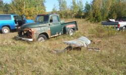 I have a 1954 Dodge 1/2 ton step side. There is no motor or transmission but the body is complete with many spare parts, some are at another location so they are not included in the pictures. There is another complete box along with other parts. The