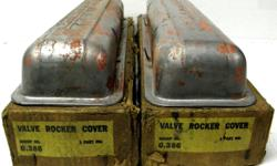 1955 56 57 58 and 59 Chevrolet factory original steel valve covers in original GM ratty old boxes, Chevrolet script, staggered holes ,Great for automotive showroom / office display it's a conversation piece or give your rat hot man cave some attitude very