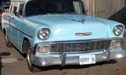 This 1956 Wagon cruizer 305cu, inch V8 great running and driving project has duel exhaust overdrive transmission................call Bob 807-683-6325