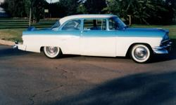 '56 Ford Customline with Continental Kit, Rebuilt 272 Cu. In. Motor, Standard Transmission, Steering and Brakes. All Chrome has been done as well as the seats. Interior is very clean. Body of the car is in very good condition and it runs excellent.