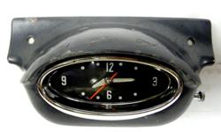 GM Original Factory optional Dash clock with housing if you shake the clock starts ticking and second hand starts moving when you apply power to its does Not Work only the lamp light works, very nice condition, good chrome, hands turn freely, Made by