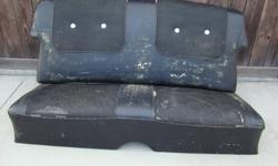 Rear seat for a 1957 Chev 2 Door Hardtop.  Was removed from a Bel Air in the 1970's.  Recommend recovering for show, or use as-is for Rat Rod.  Springs complete and in good shape.