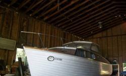 Beautifull wooden  Chris Craft Sea skiff  rare boat 30 ft cabin with v berth bathroom, kitchen twin merc cruisers $18,000 obo