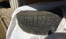"""15"""" Michelin Xi3 Winter tires & rims, used only half season, taken from ford focus 2010, located at east end, please email or text 306-999-1887"""