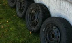 4 195/60R15 Nokian Tires on Universal Winter Steel Rims Great tread still. Don't have the car these were purchased for anymore and they don't fit the new car. Purchased from KalTire December 2007 and used winters of 07/08/09. Original purchase price was