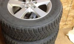 I have 4 winter Kumho tires with rims from my Mazda 3. 195/65R15. Lots of tread. Parry Sound or Huntsville. This ad was posted with the Kijiji Classifieds app.