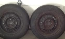 i have two rims with tires. From a Pontiac sunfire. The size is 195/70/r14 Asking $25 each Please email or text