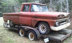 1960 chevy apatche pick up inline 6 3 on the tree short box, fleet side project vehilcle, frame is good $1500 obo