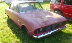 A car ready for restoration by collecter.  A beautiful car with lots of potential.  Some work has been done already. The Frontenac is a 1 year only made Canadian built car.  It is similar to the Ford Falcon.  This car was built in Oakville ON and shipped