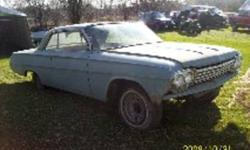 For sale 1962 impala 2 door car sellind due to health reasons also comes with a 4 door parts car witch is the same year 1962 these cars must go was asking $5000 NEW PRICE $3500 FIRM NO trades please !