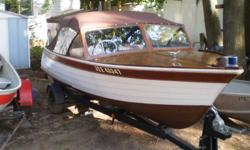 COMPLETELY REFINISHED 1982 tomhson thanks 55hp motor trailer 1705 715 8365