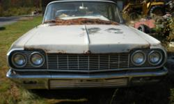 For Sale 1964 Chevy Impala Sedan posting this ad for a friend solid frame good bumpers fenders are in good shape good grill Hood is in perfect shape will part out if the price is right.     Call Benny for more details at (613) 756-3146 engines and trannys